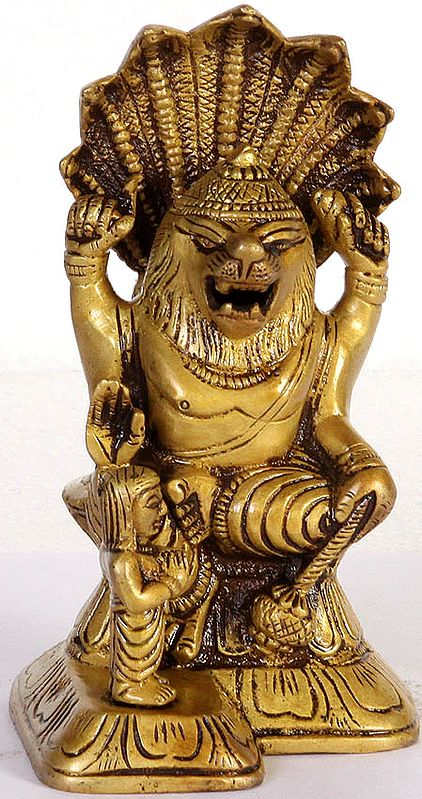 Lord Vishnu as Narasimha with Prahlada