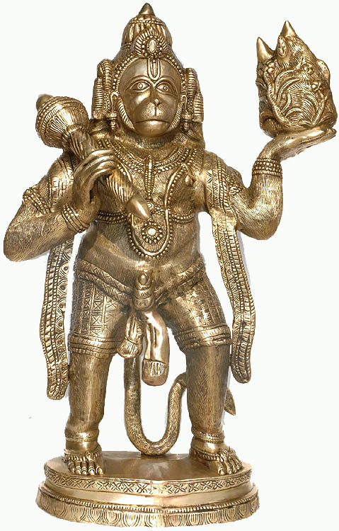 Large Size  Hanuman Carrying Mount Dron