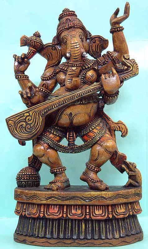 Nartaka-Gayaka Ganesha