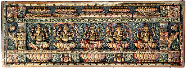 Pancha Ganesha Panel