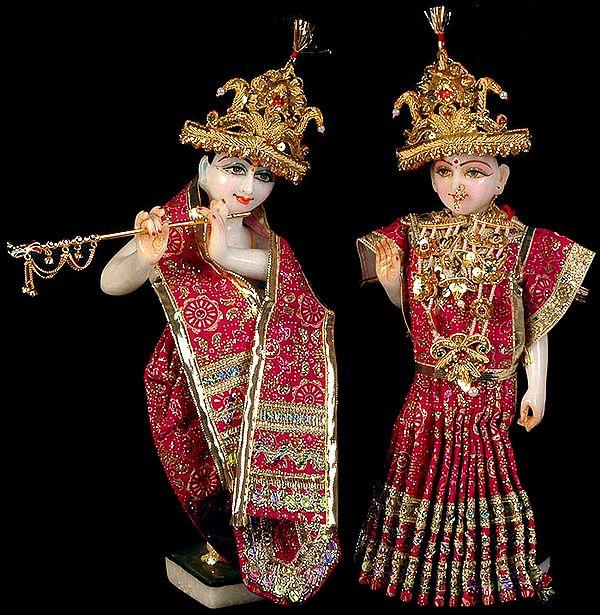 Radhey Shyam (Radha and Krishna with Dress)