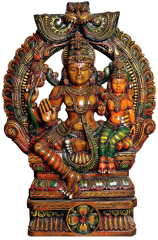 Lord Vishnu with Lakshmi Ji