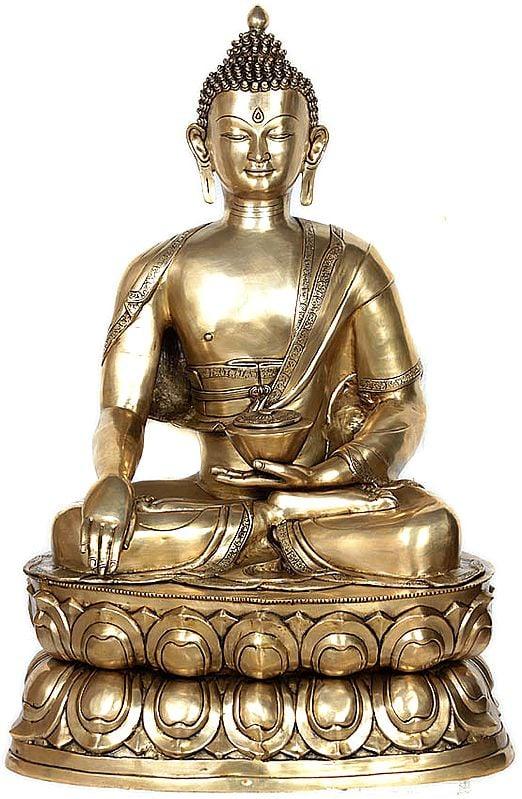 Padmasana Buddha In Bhumisparsha Mudra, His Divine Countenance Impossible To Look Away From