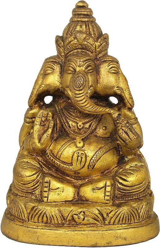 Three Headed Ganesha