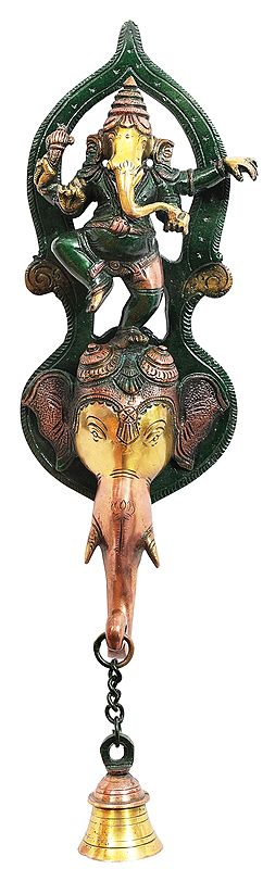 Dancing Ganesha Wall Hanging Bell