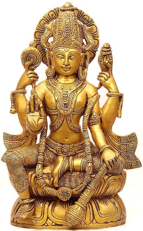 Kamalasana Chaturbhuj Vishnu