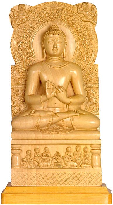 Sarnath Buddha (Shakyamuni Delivering First Sermon at Sarnath to His First Five Disciples)