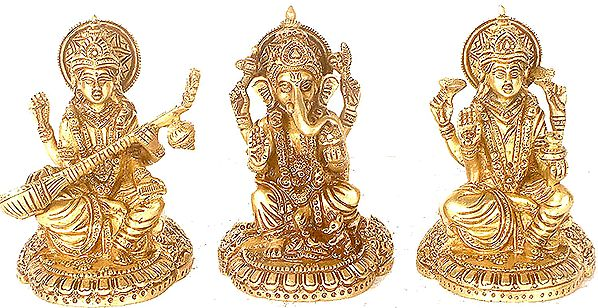 The Great Triad of Ganesha, Lakshmi and Saraswati