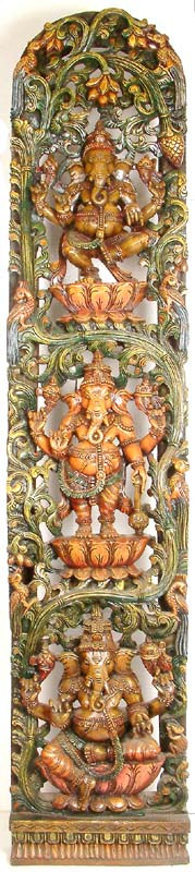 Three Ganesha Panel