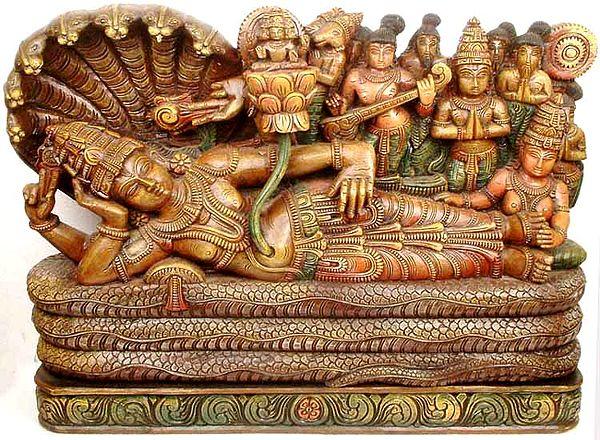 Vishnu on Sheshanaga