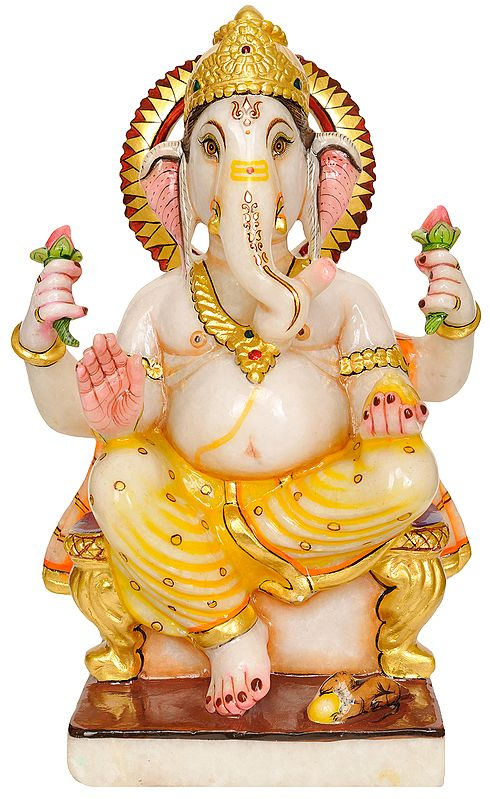 Lord Ganesha Blesses Devotees