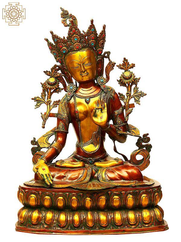 Large Size Goddess White Tara (Tibetan Buddhist Deity)
