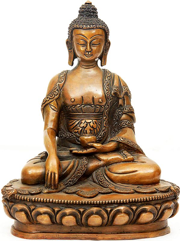 Lord Buddha Seated in Earth Witness Gesture
