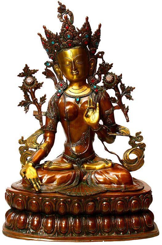 Large Size Tibetan Buddhist Mother Goddess White Tara
