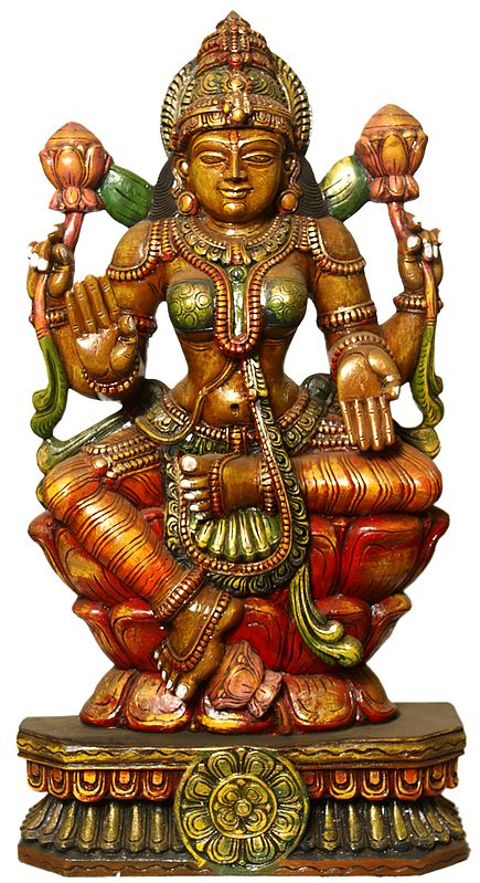 In Exact Adherence to Goddess Lakshmi's Classical Iconography