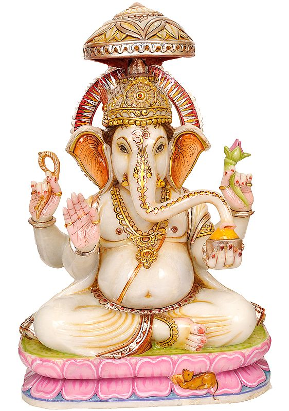 Large Size Lord Ganesha with Canopy