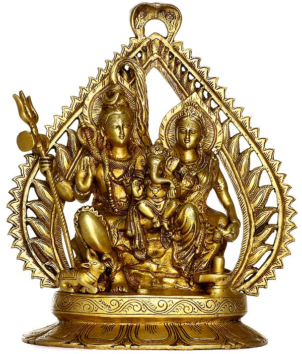 The Divine Couple Shiva and Parvati with Ganesha