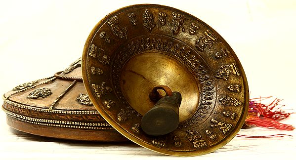 Tibetan Buddhist Monastery Cymbals with Case