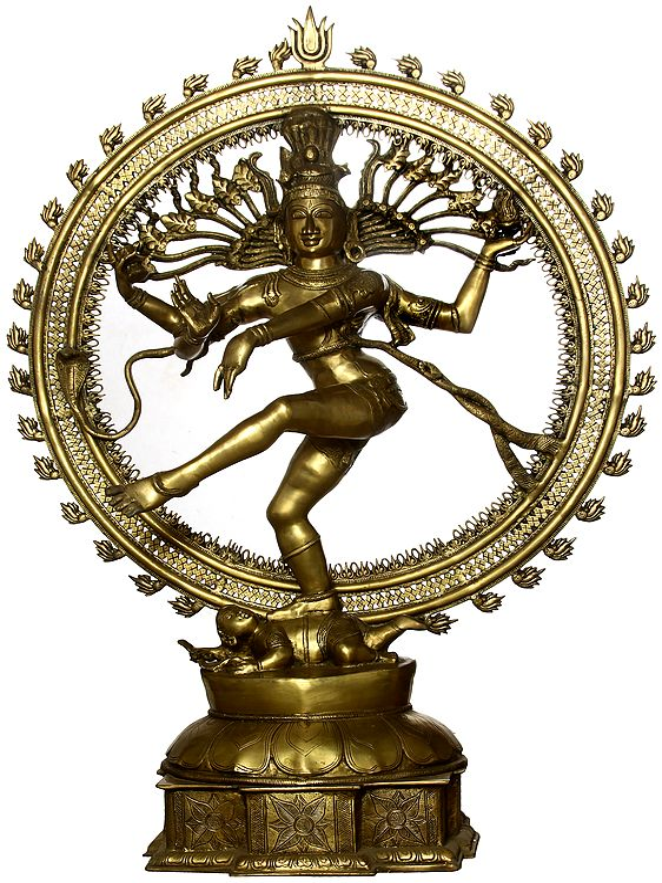 Lord Shiva As Nataraja in Golden Hue