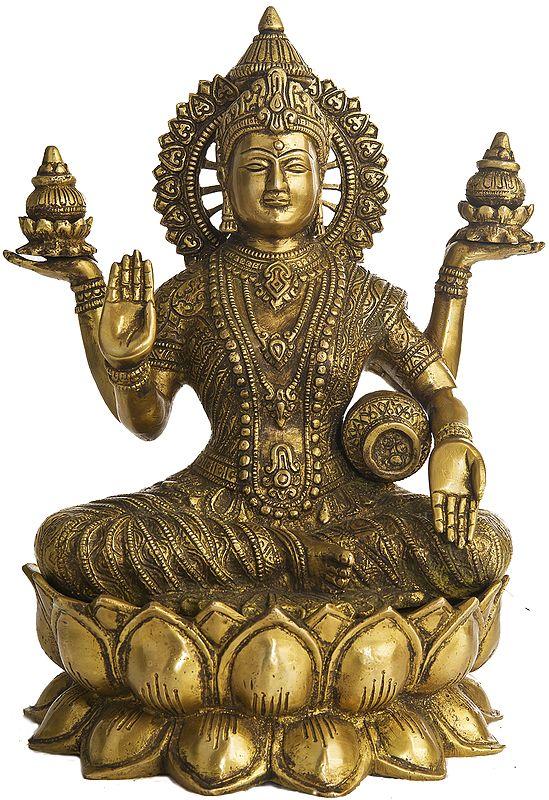 Goddess Lakshmi Seated on Lotus