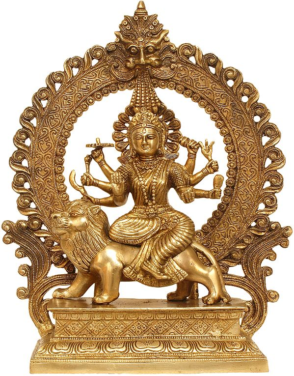 Ashta-bhuja-dhari Simha-Vahini Durga
