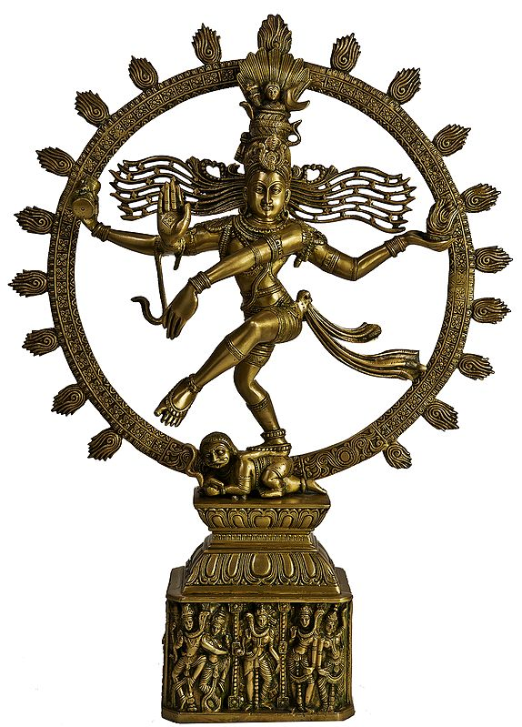 Nataraja (Pedestal Decorated with Dancing Figures of Shiva Parvati)