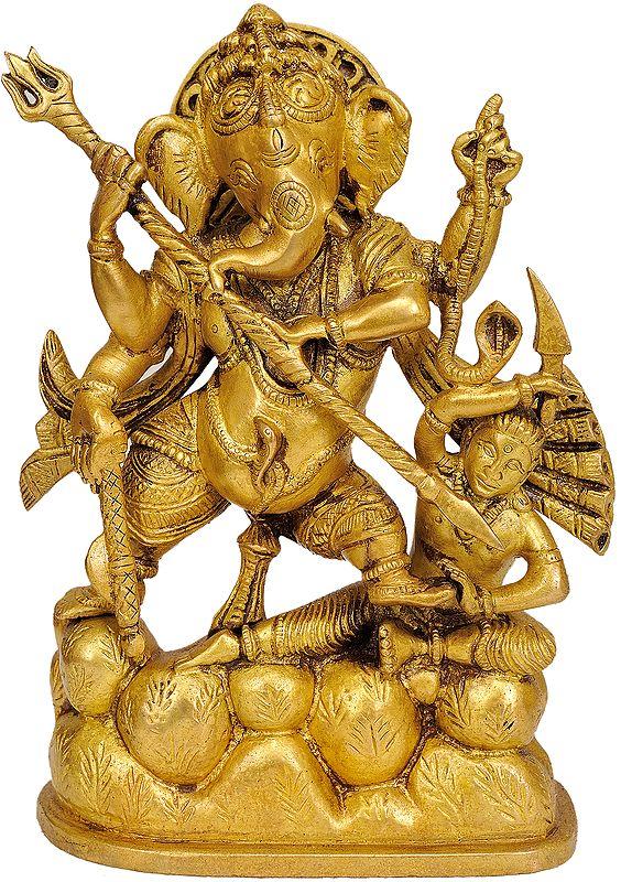 Lord Ganesha Annihilating Demon