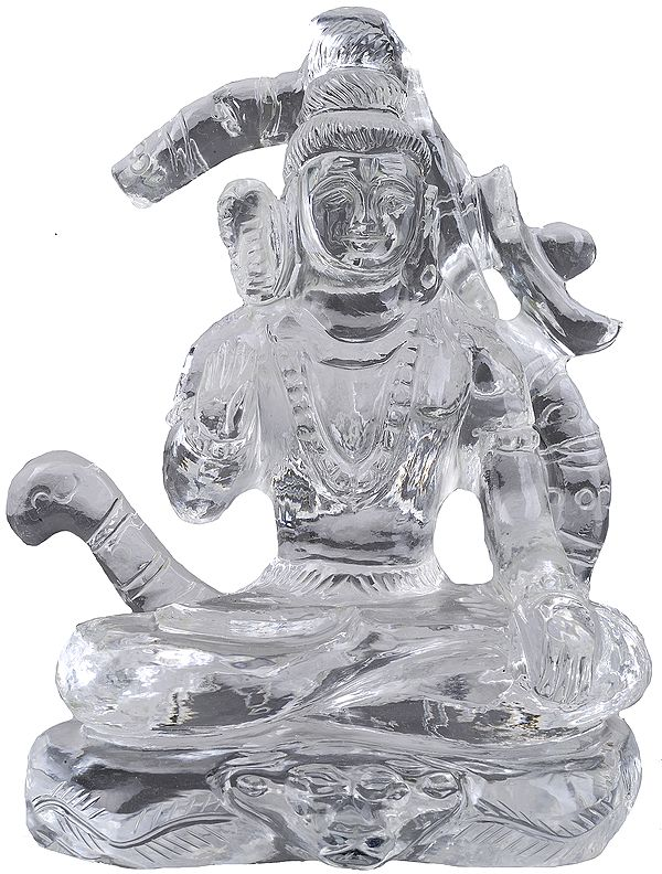Lord Shiva Seated in Yogasana in the Backdrop of Om (AUM)