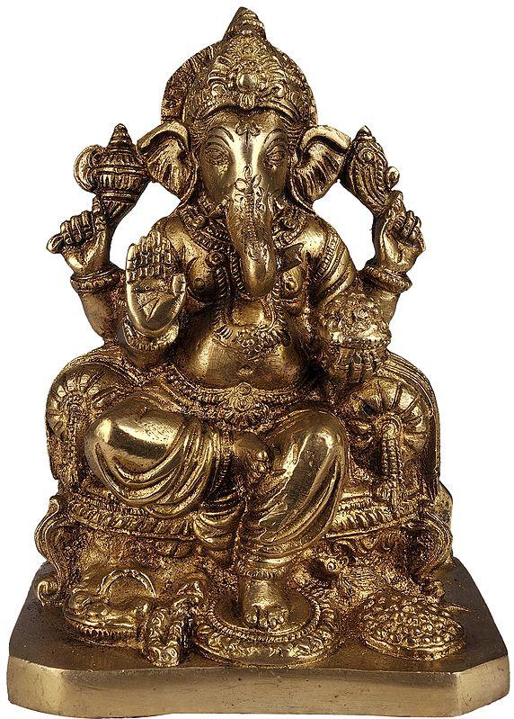 Lord Ganesha Granting Abhaya to His Devotees