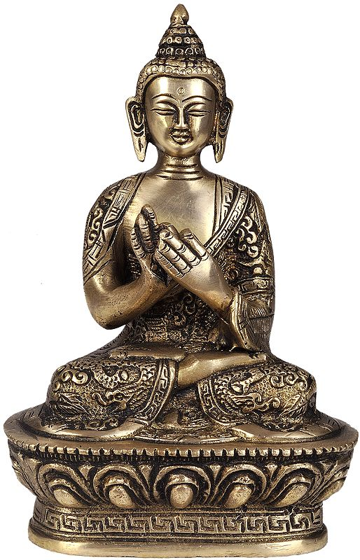 Dharmachakra Buddha Decorated in Auspicious Robe