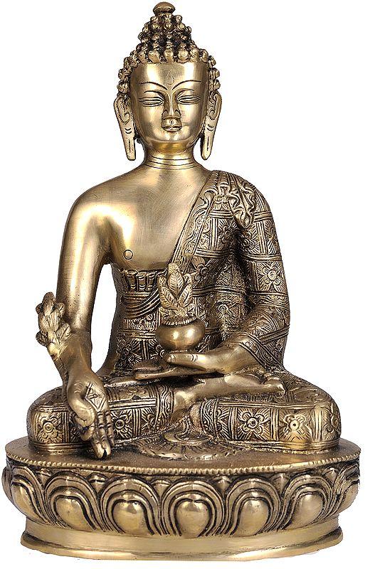 Tibetan Buddhist God Bhaishajyaguru - The Medicine Buddha