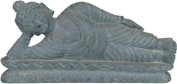 Parinirvana Buddha (A Statue Blessed by Monks in Bodhgaya)