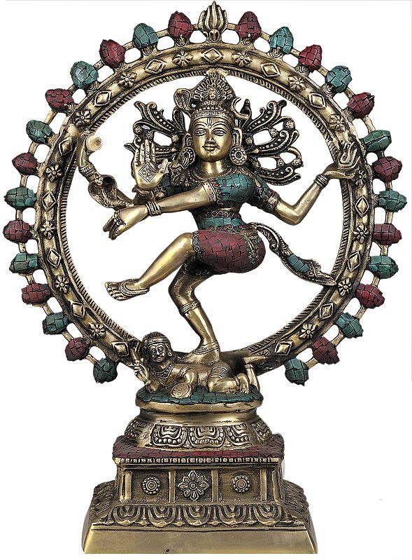 Lord Shiva as Nataraja (With Inlay Work)