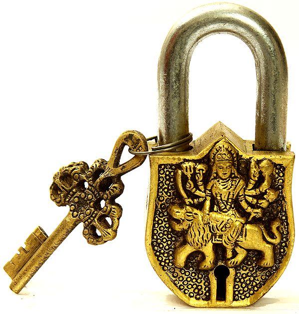 Goddess Durga Temple Lock