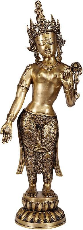 Standing Devi Tara, Her Eyes Shut