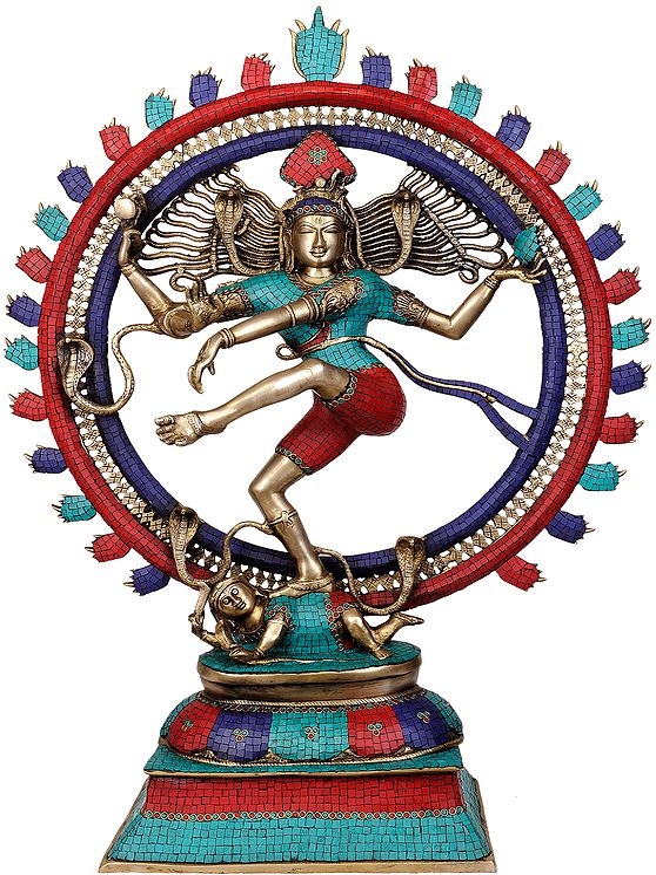 Nataraja (Large Statue with Superfine Inlay Work)