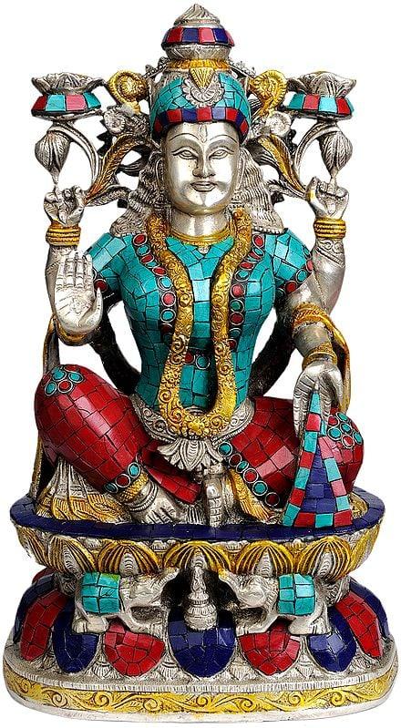 Goddess Lakshmi (with Inlay Work)