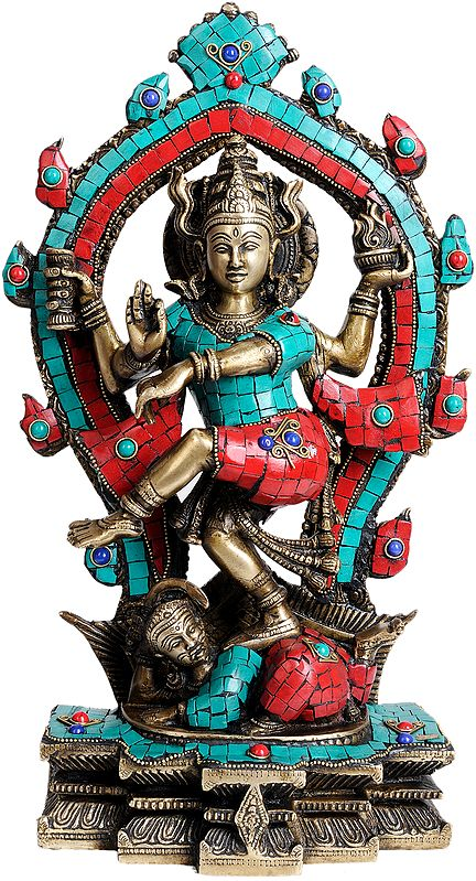 Dancing Shiva as Nataraja (with Inlay Work)