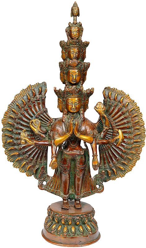Tibetan Buddhist Deity Thousand-Armed Avalokiteshvara
