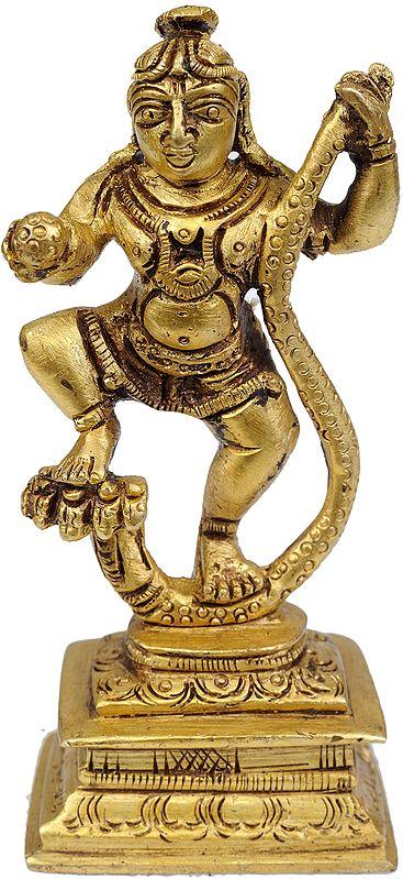 Lord Krishna Vanquishes Kaliya  (Small Statue)