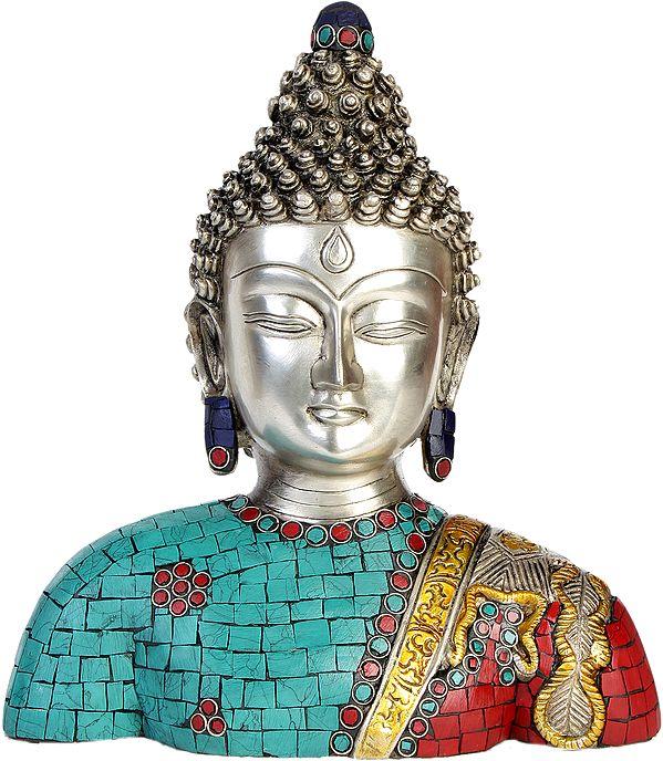 Lord Buddha Bust  (Inlay Statue)