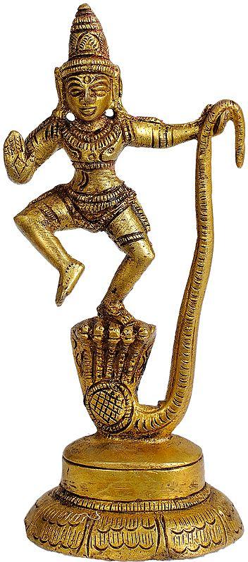 Kaliya Vijaya Lila of Shri Krishna (Small Statue)