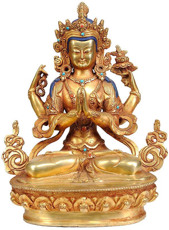 Chenrezig (Shadakshari Lokeshvara Tibetan Buddhist Deity)