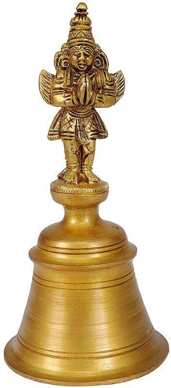 Garuda and Hanuman Handheld Bell (Double-Sided Statue)