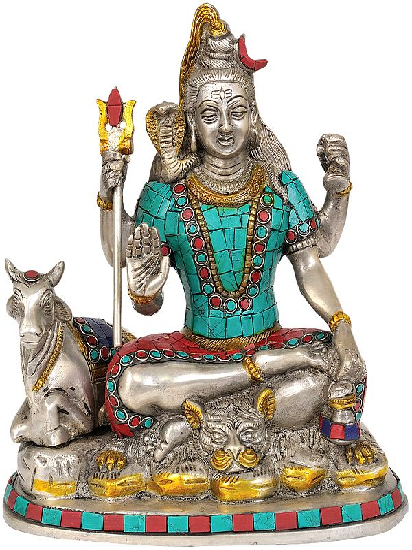 Shiva and Nandi (Inlay Statue)