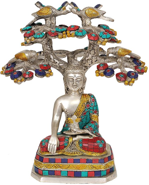 The Buddha Under the Bodhi-Tree (Inlay Statue)