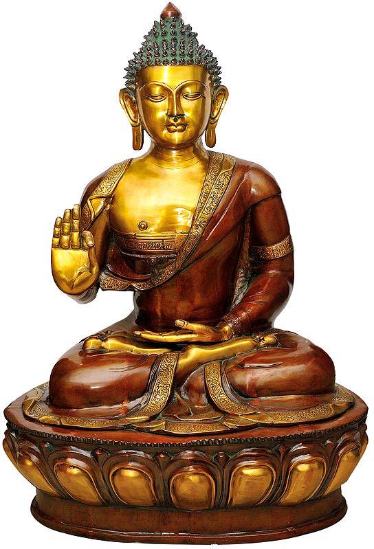 Large Size Lord Buddha in Abhay-Mudra