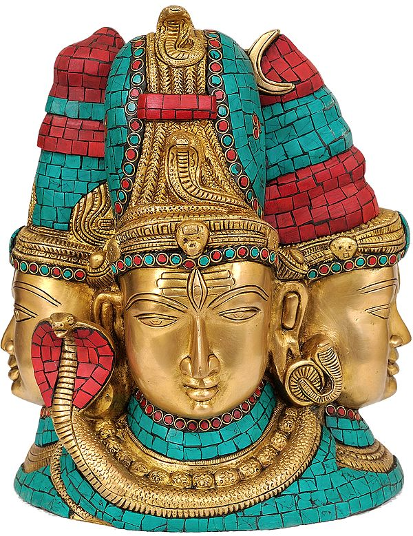 Tri-Murti and the Devi (Inlay Statue)