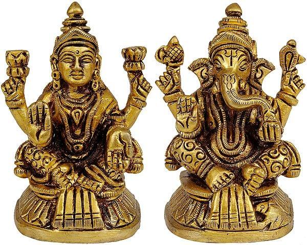Shri Ganesha and Goddess Lakshmi