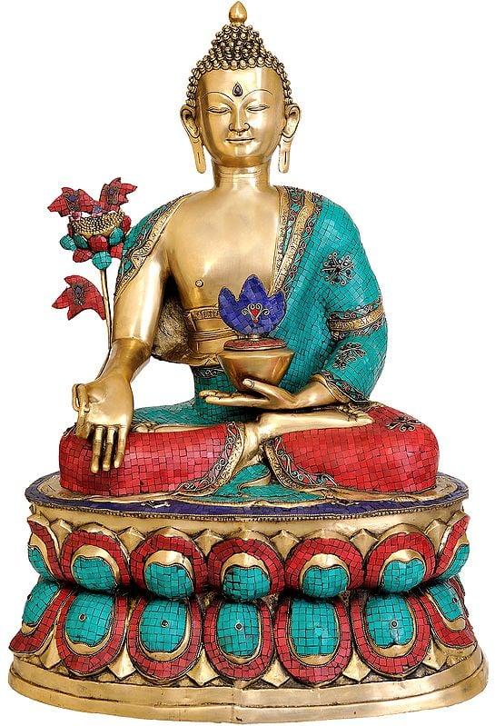 Large Size of Tibetan Buddhist God Medicine Buddha